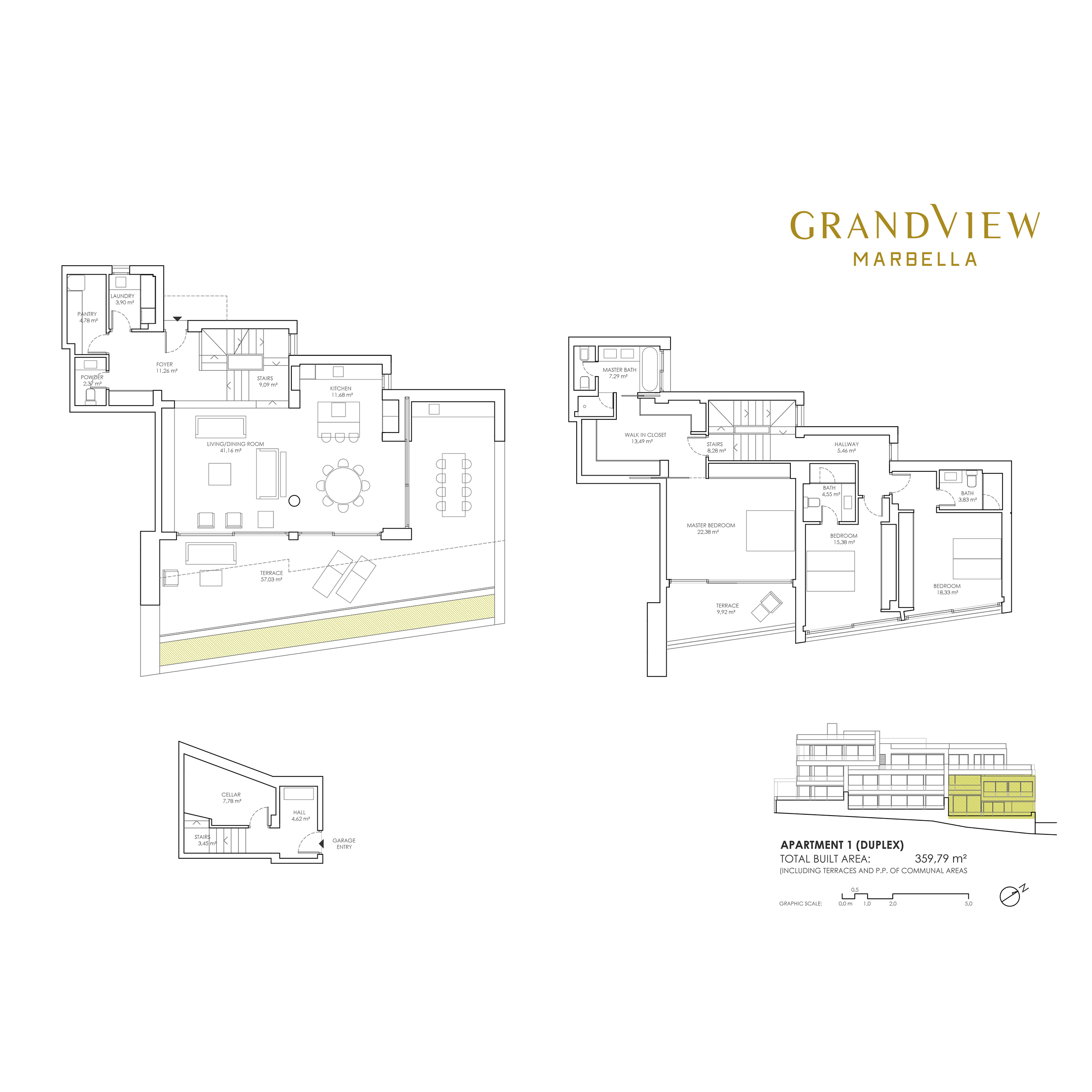 Grand View Marbella Apartment 1 DUPLEX  floorplan