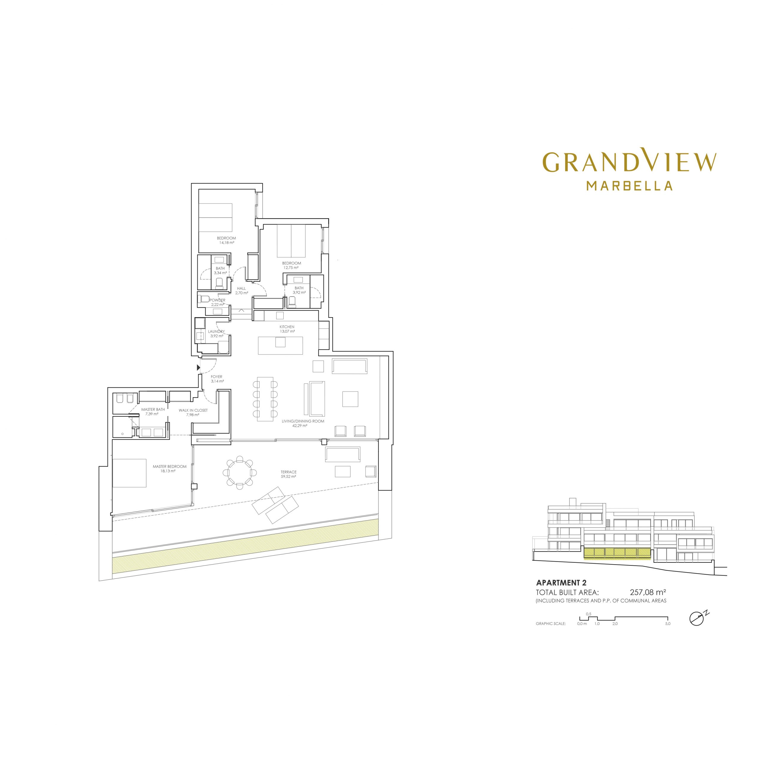 Grand View Marbella Apartment 2 floorplan