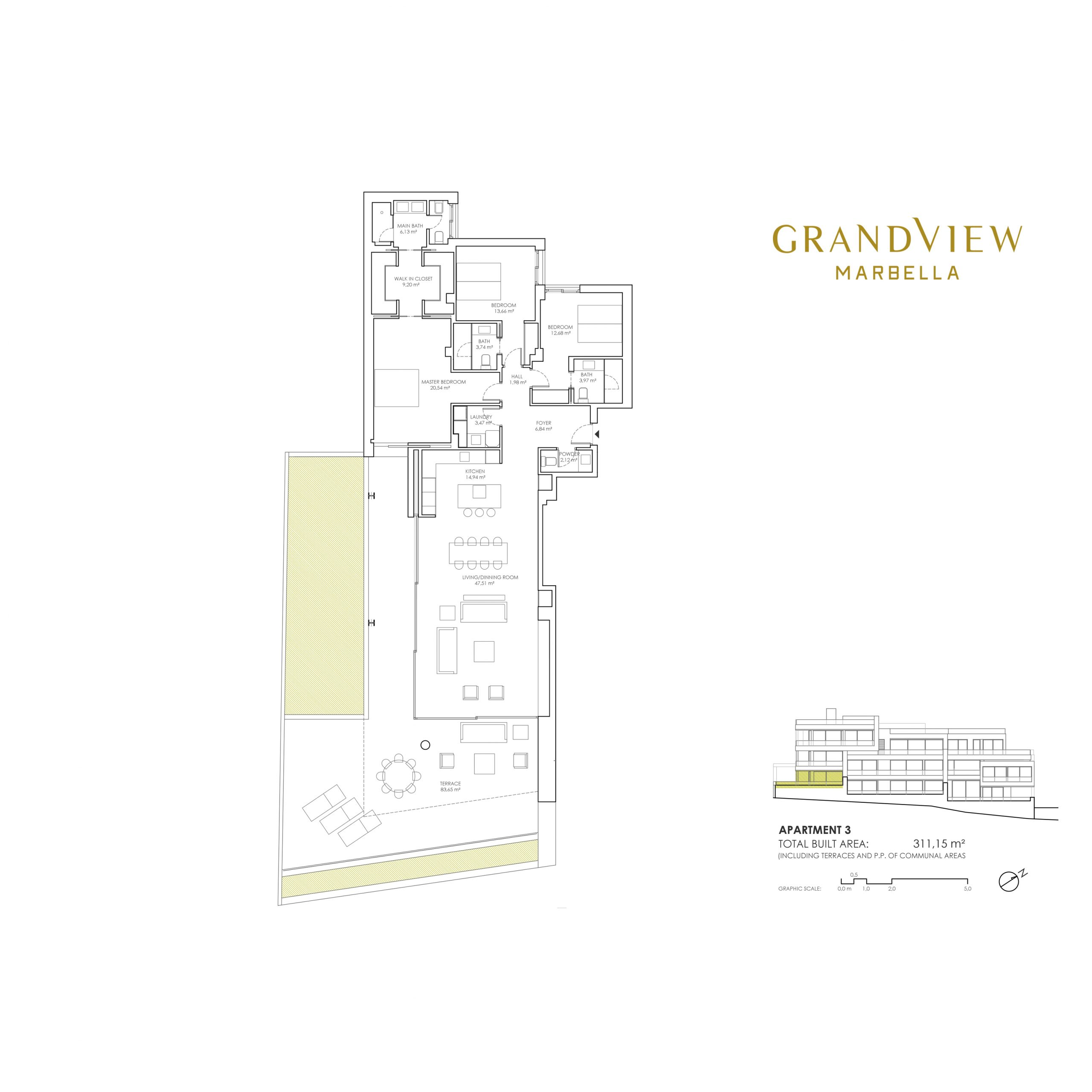 Grand View Marbella Apartment 3 floorplan