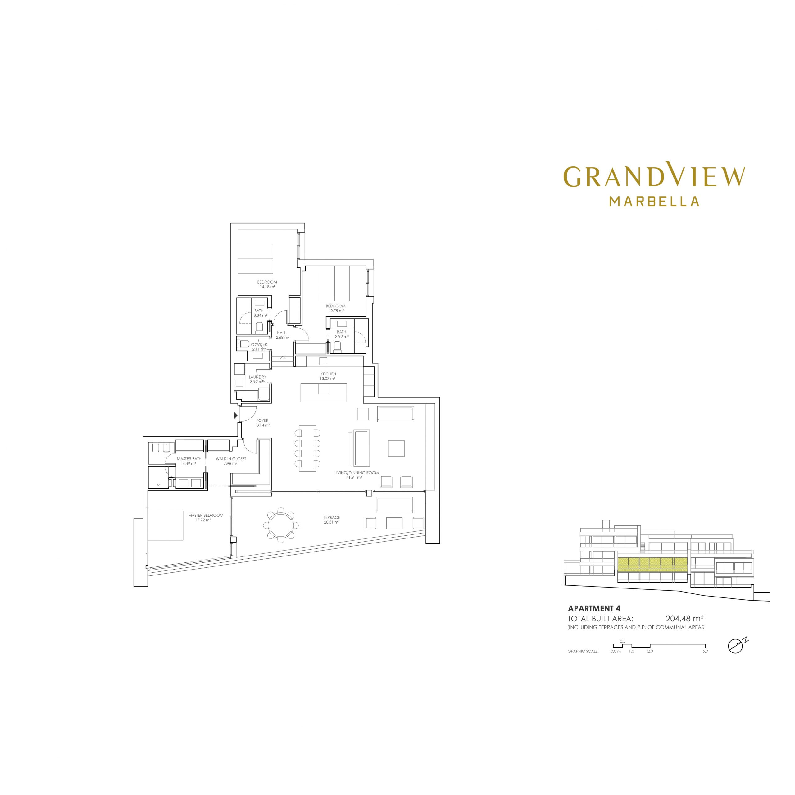 Grand View Marbella Apartment 4 floorplan