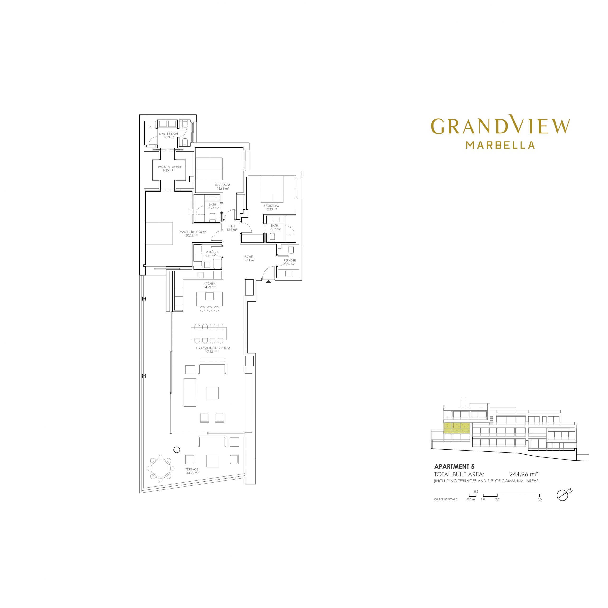 Grand View Marbella Apartment 5 floorplan